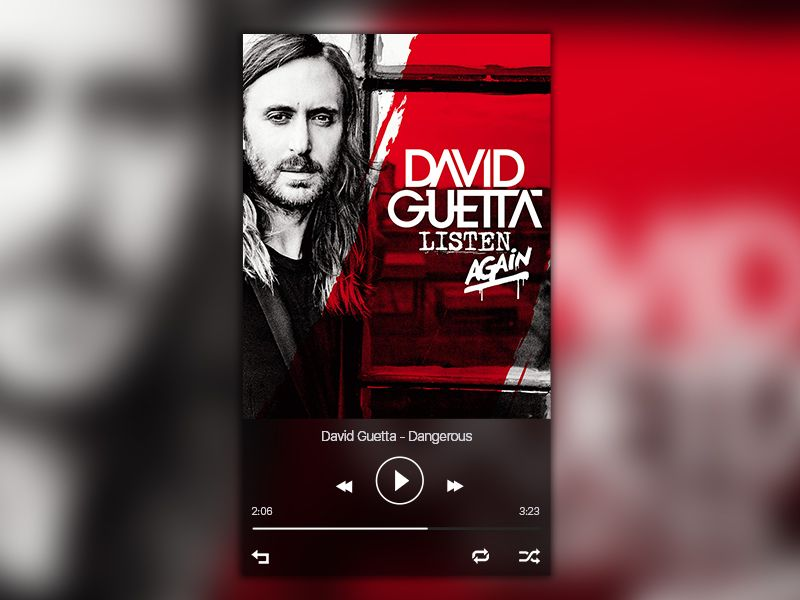 Spotify Player Redesign David Guetta Sia David Guetta Dj