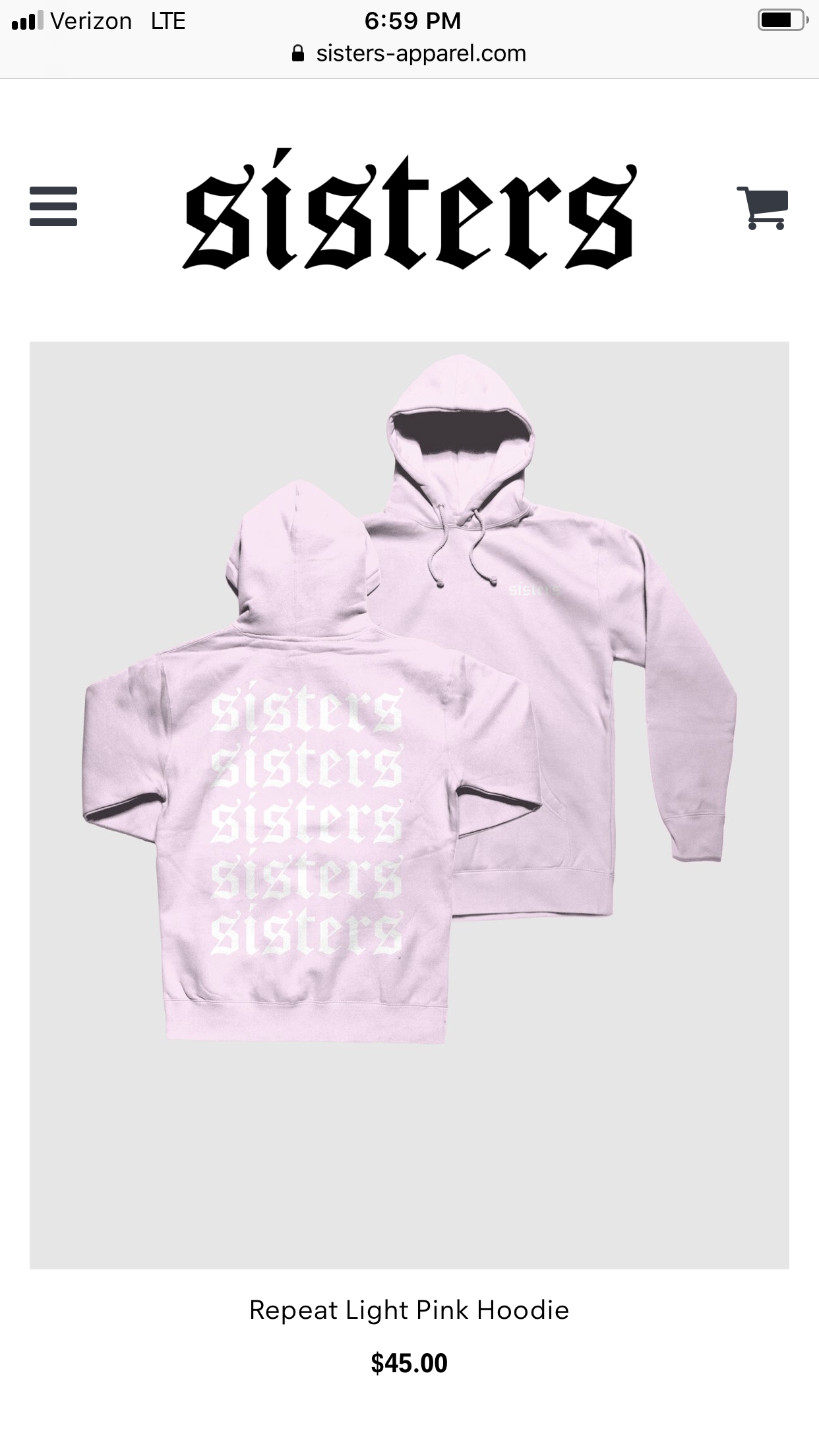 Sisters merch | Light pink hoodie, Hoodies, Hoodie outfit