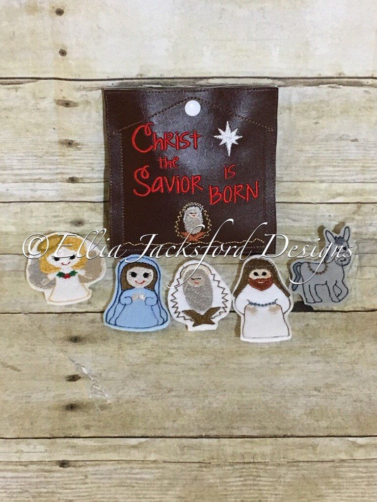 A personal favorite from my Etsy shop https://www.etsy.com/listing/490313525/nativity-finger-puppets-with-carrying