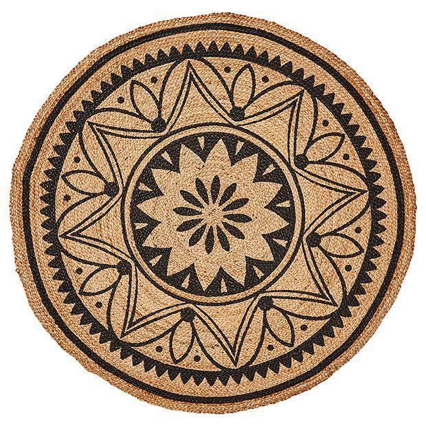 Ethnic Eclectic Tangier Round Jute Floor Rug Target Australia