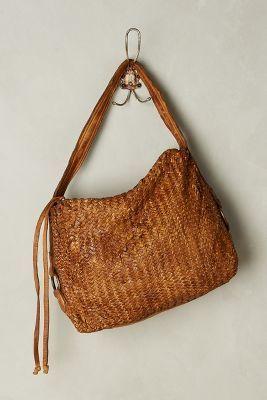 494437a8e665 Tano Woven Leather Hobo Bag
