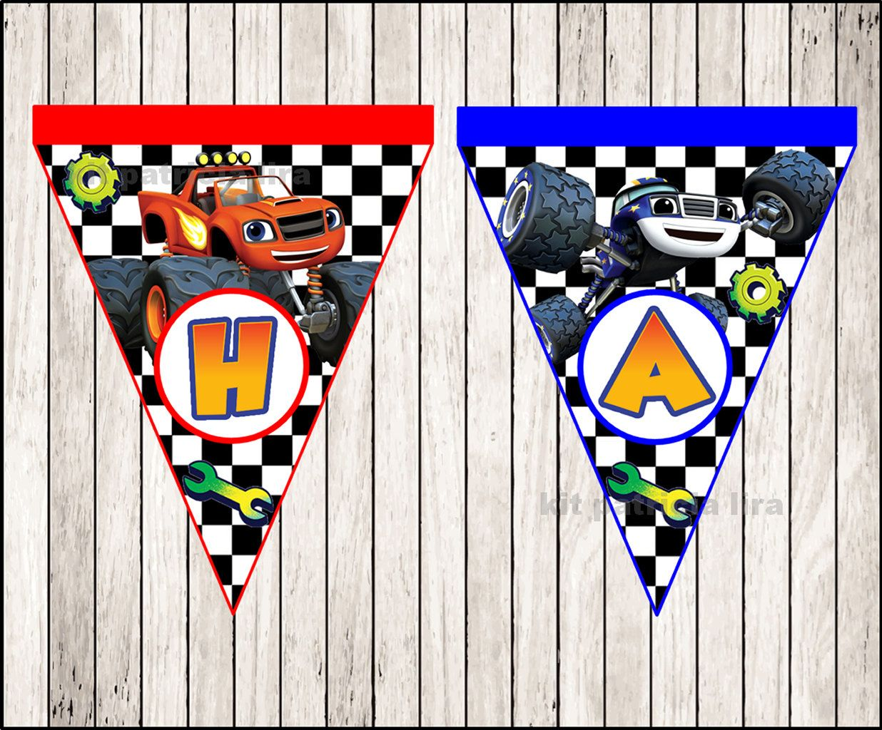 Blaze And The Monster Machines Banner Instant Download Monster