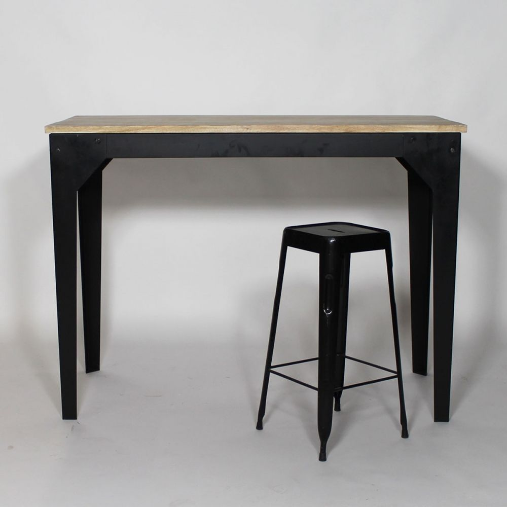 Table haute mange debout bois et m tal 150x70 tables ps for Table haute bois et metal