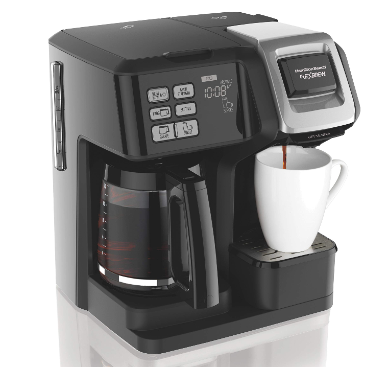 Hamilton Beach 49957 Flex Brew Coffee Maker Black Distressed Box In 2020 Cuisinart Coffee Maker Single Cup Coffee Maker Bunn Coffee Maker