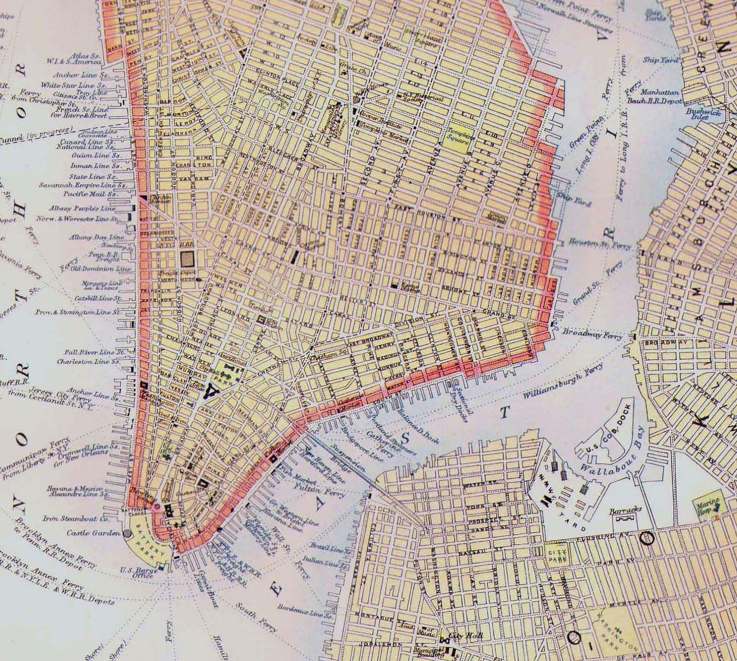 Map Of New York Like This Item Taylor Style Pinterest - New york city map 1950