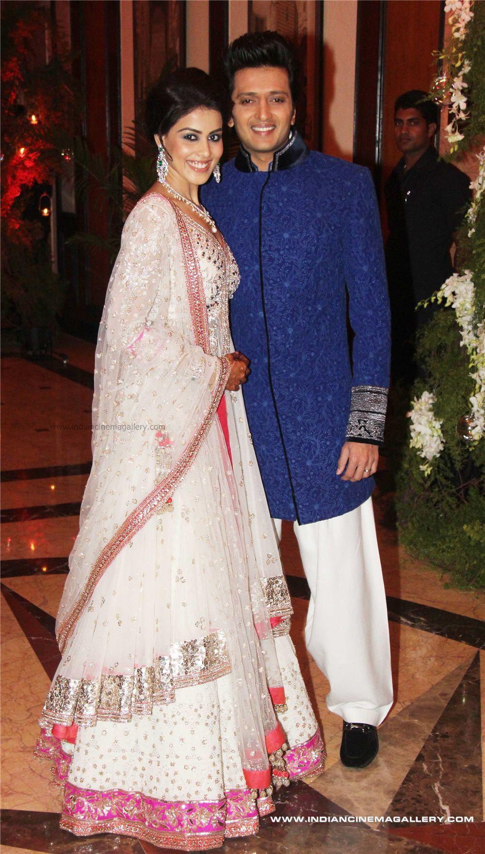 Genelia D\'Souza and Riteish Deshmukh | Indian Celebrity wedding ...