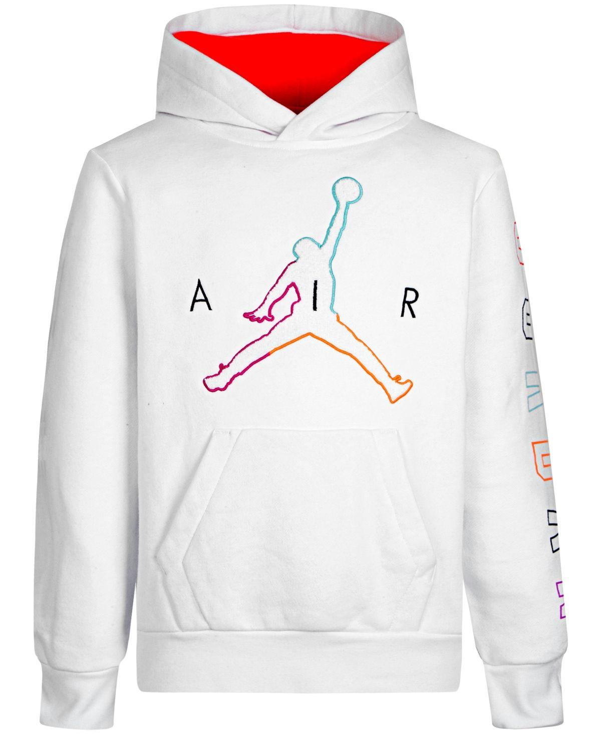 Jordan Big Boys Multi Color Jumpman Hoodie White Hoodies Applique Hoodie Kids Sweater [ 1467 x 1200 Pixel ]
