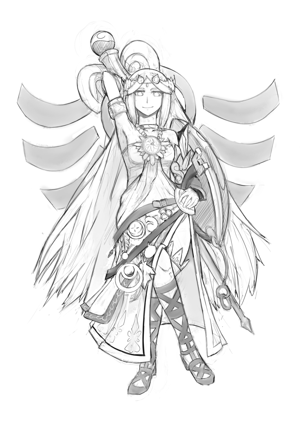 Palutena Fan art by FreezingCicada