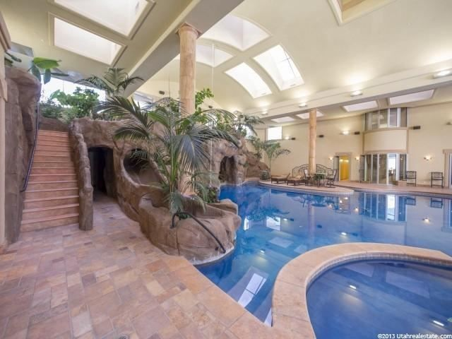 Indoor swimming pool with slides water fall dressing - Indoor swimming pool with slides london ...