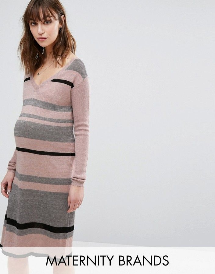087c596a782ad Mama.licious Striped Knitted Dress | Maternity Dresses Under $20 ...
