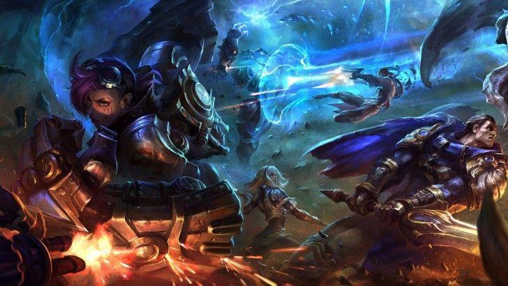 League Of Legends Vi Lux Xerath Lucian Garen 1920x1080