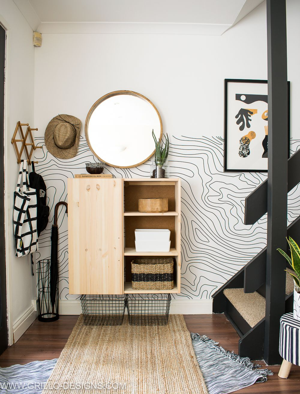 Hallway and stairs wallpaper  Entrance and Stairs Makeover for small space dwellers  Interiors