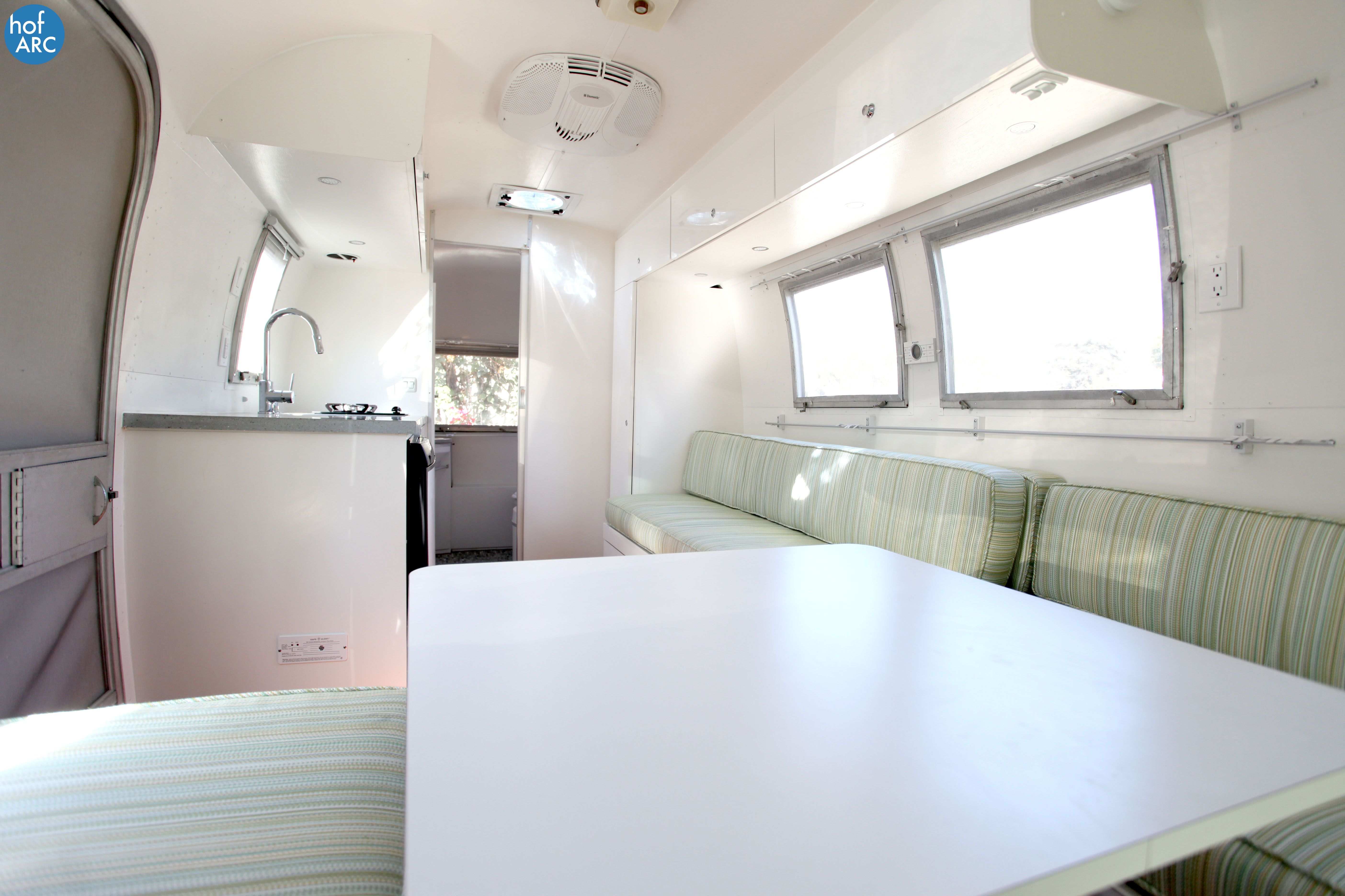 1967 Airstream Globetrotter Renovated By Hofarc Caravan Renovation Renovations Globe Trotter