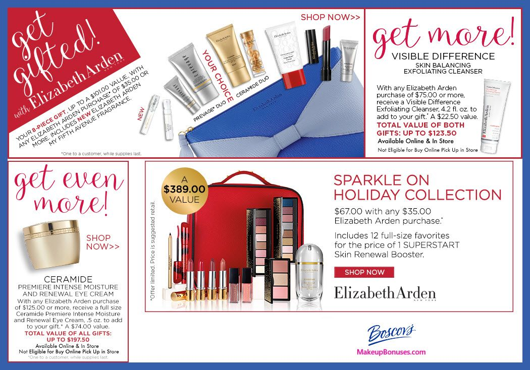 Boscov's Free Bonus Gifts with Purchase from Elizabeth