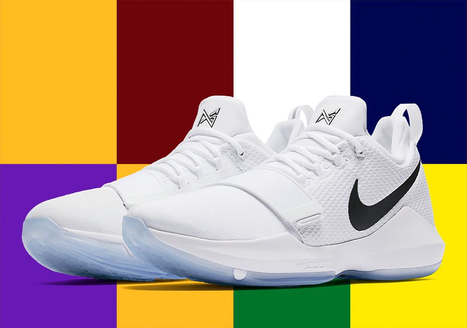 7732e304e5c1 Even the latest Nike PG 1 isn t sure where Paul George will be playing next  year as a White Black-Ice Blue (Style Code  878627-100) is as simple as it  gets.