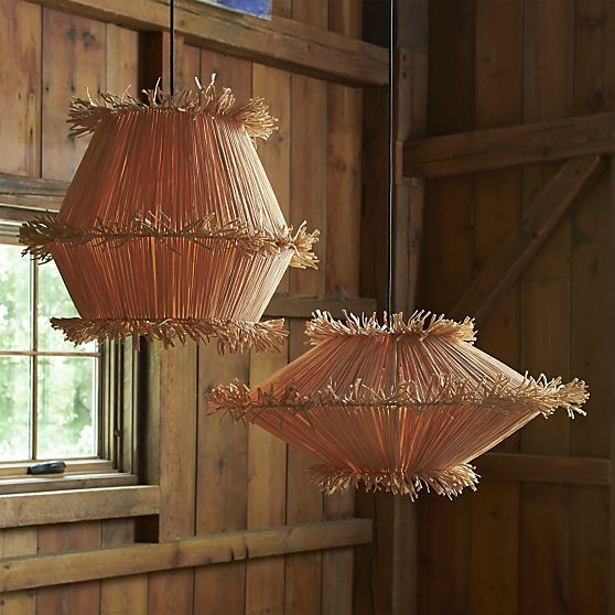 crate and barrel lighting fixtures. tiger raffia tall pendant light crate and barrel lighting fixtures
