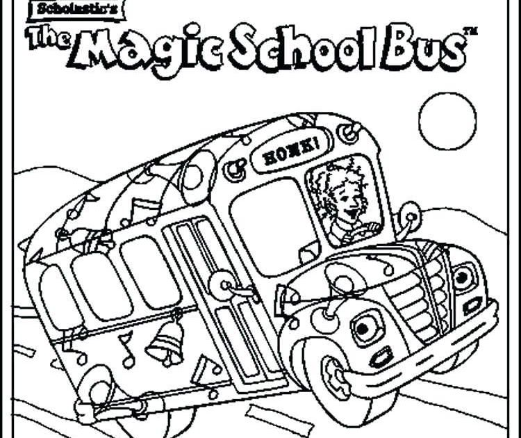 Free Printable Magic School Bus Coloring Pages Di 2020 Bus Sekolah