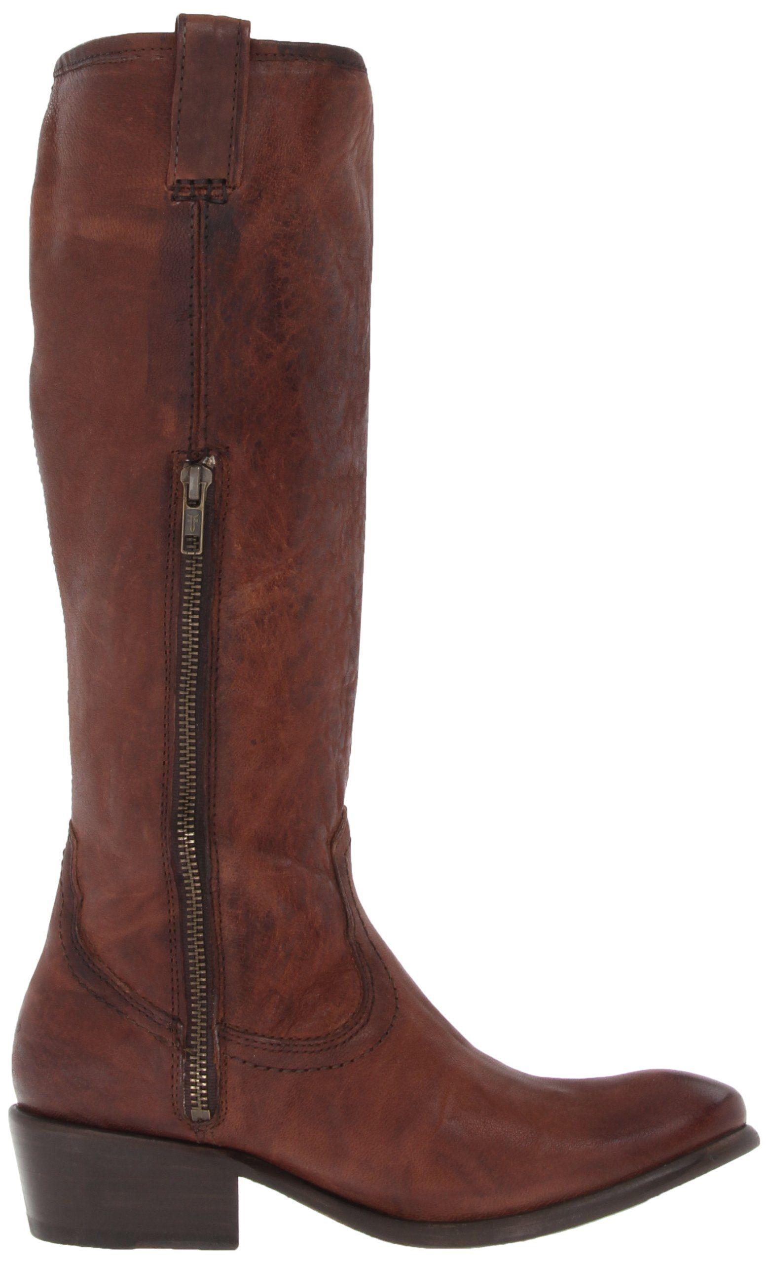 48c9c3b7ca6 Amazon.com: FRYE Women's Carson Zip Tall Boot: Clothing | Buy the ...