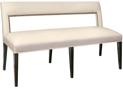 Faux Leather Dining Bench Padded Upholstered With Back Room