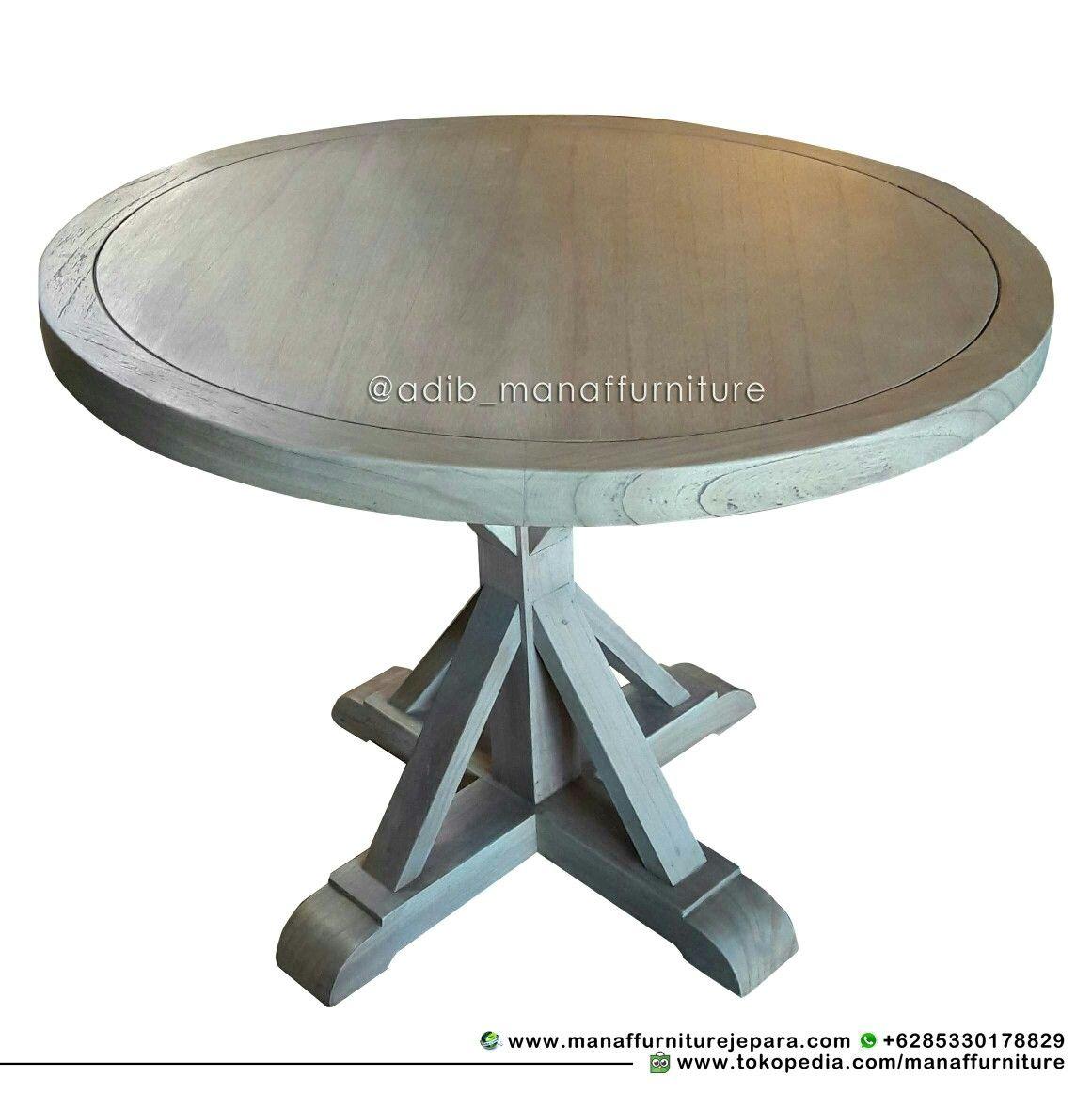 Coffee Table Meja Bulat - HOOMDESIGN