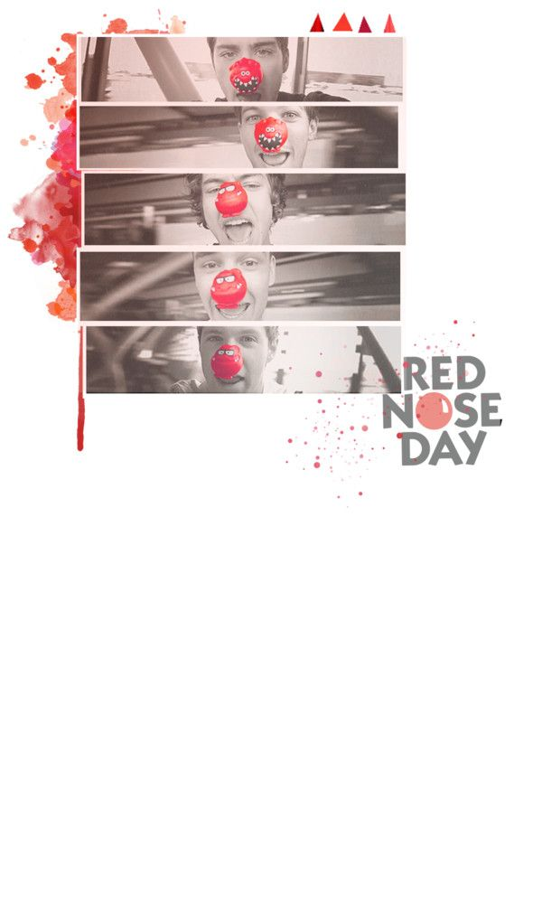 """red nose day!"" by iamametamorphmagus ❤ liked on Polyvore"