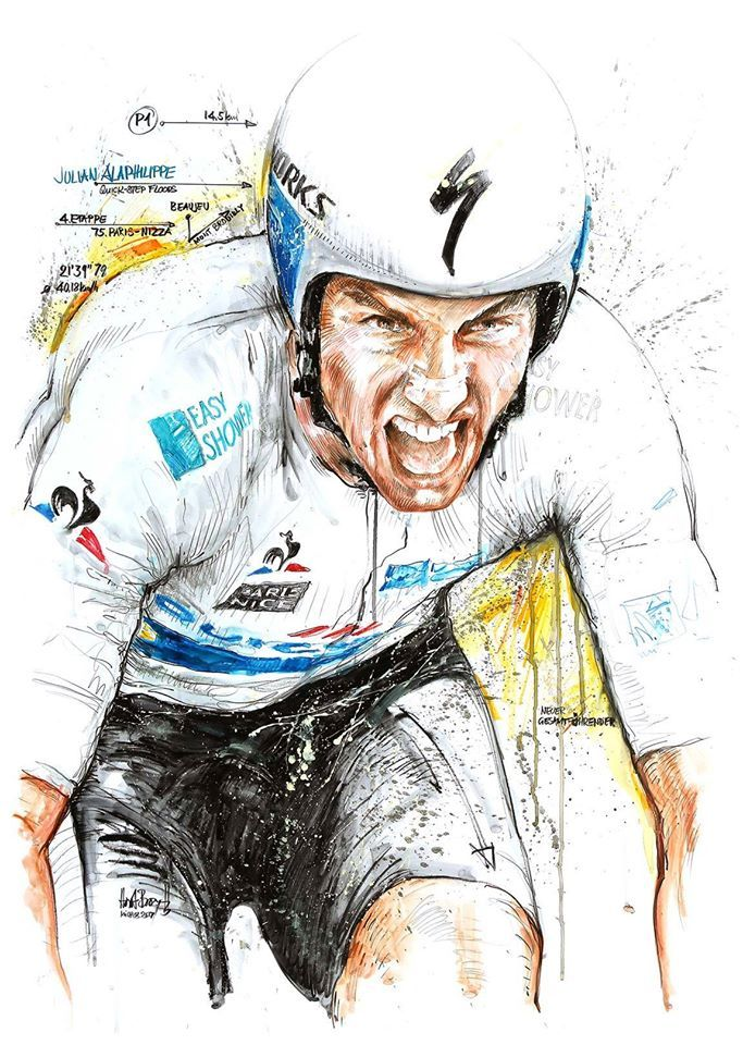 Julian Alaphilippe wins TT Stage 4 Paris Nice 2017 by Horst Brozy