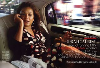 WT MANAGEMENT: Paul Innis Dolls Up Christina Norman--CEO of the Oprah Winfrey Network--for Vogue Photoshoot by the EVER amazing Annie Leibovitz!