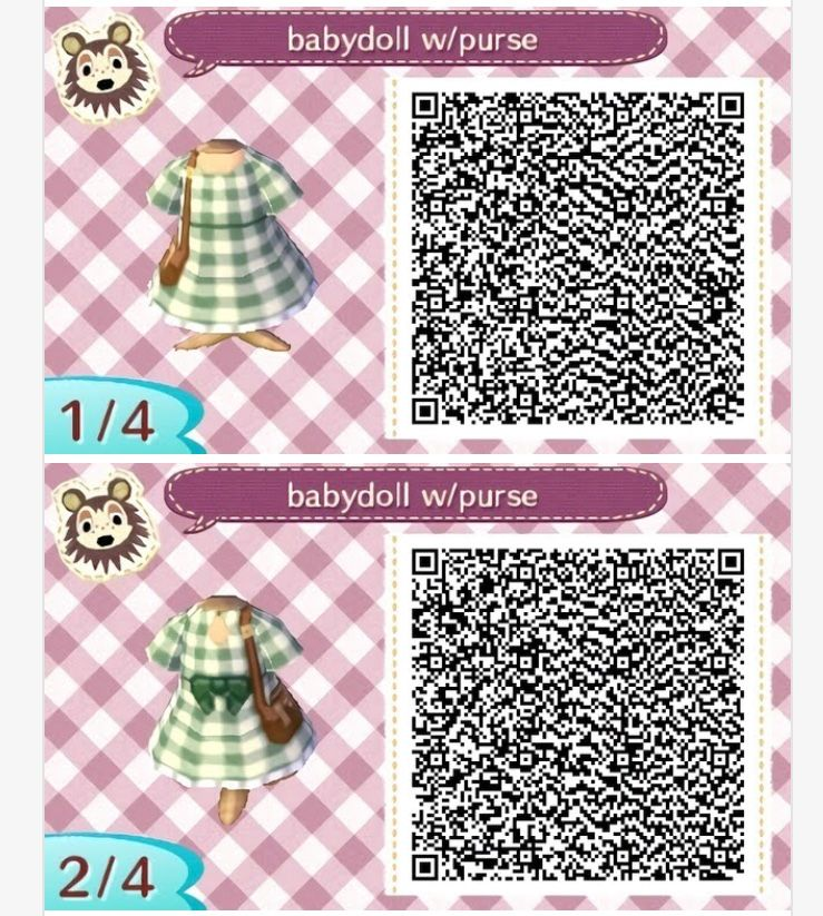 This Is Not My Qr Code Tap Pin For Source Animal Crossing Gingham Print Qr Codes Animal Crossing