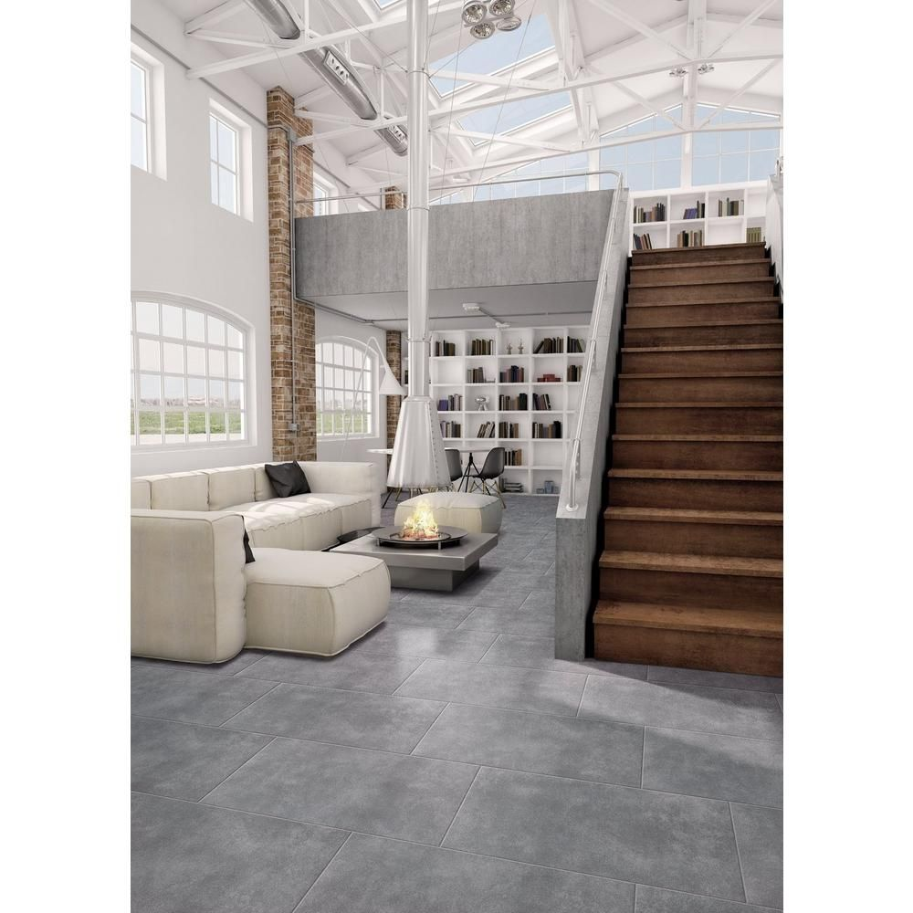 Uptown Antracite Porcelain Tile 18 X 36 100436872 Floor And Decor