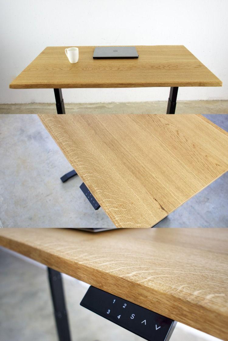 Height Adjustable Desk Standing Table Home Office Oak Table Tree Edge Stehtisch Stehtisch Buro Hohenverstellbarer Schreibtisch