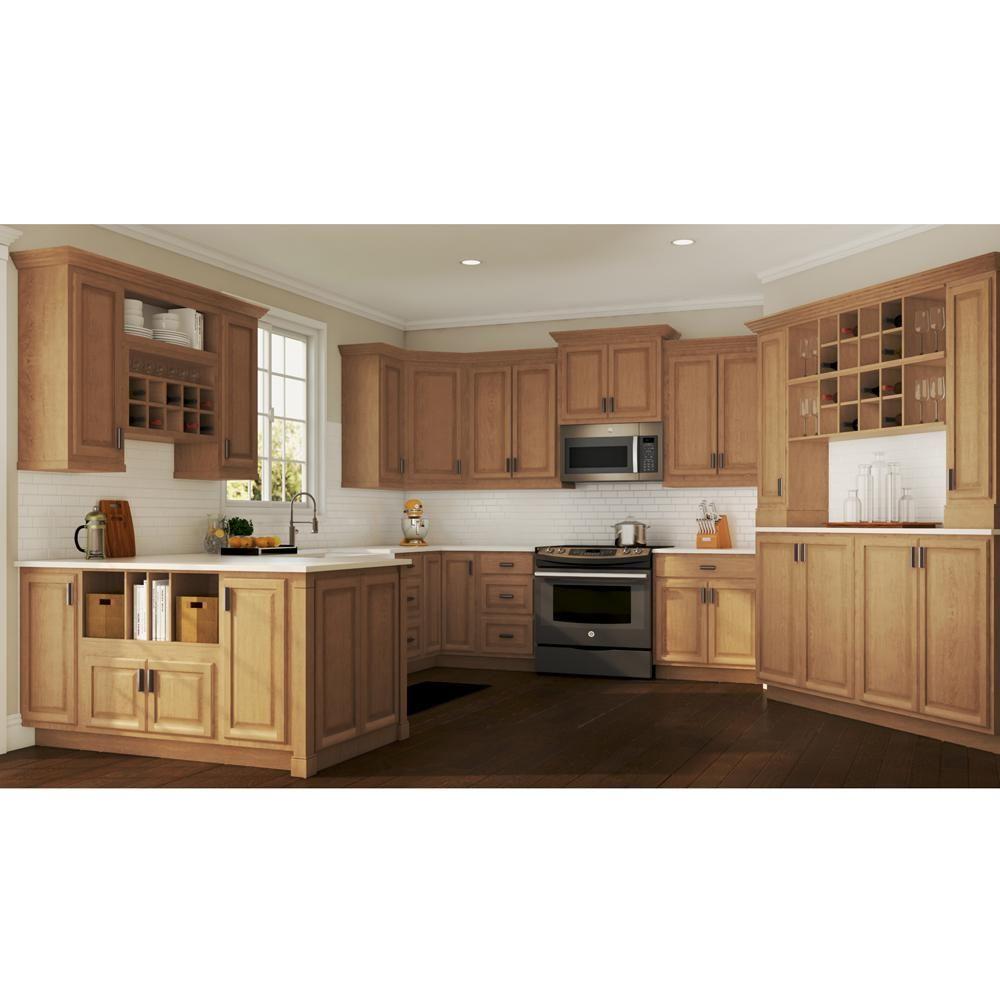 Hampton Bay Hampton Assembled 36x34 5x24 In Sink Base Kitchen Cabinet In Medium Oak Ksb36 Mo Kitchen Design Kitchen Cabinet Trends Hickory Kitchen Cabinets
