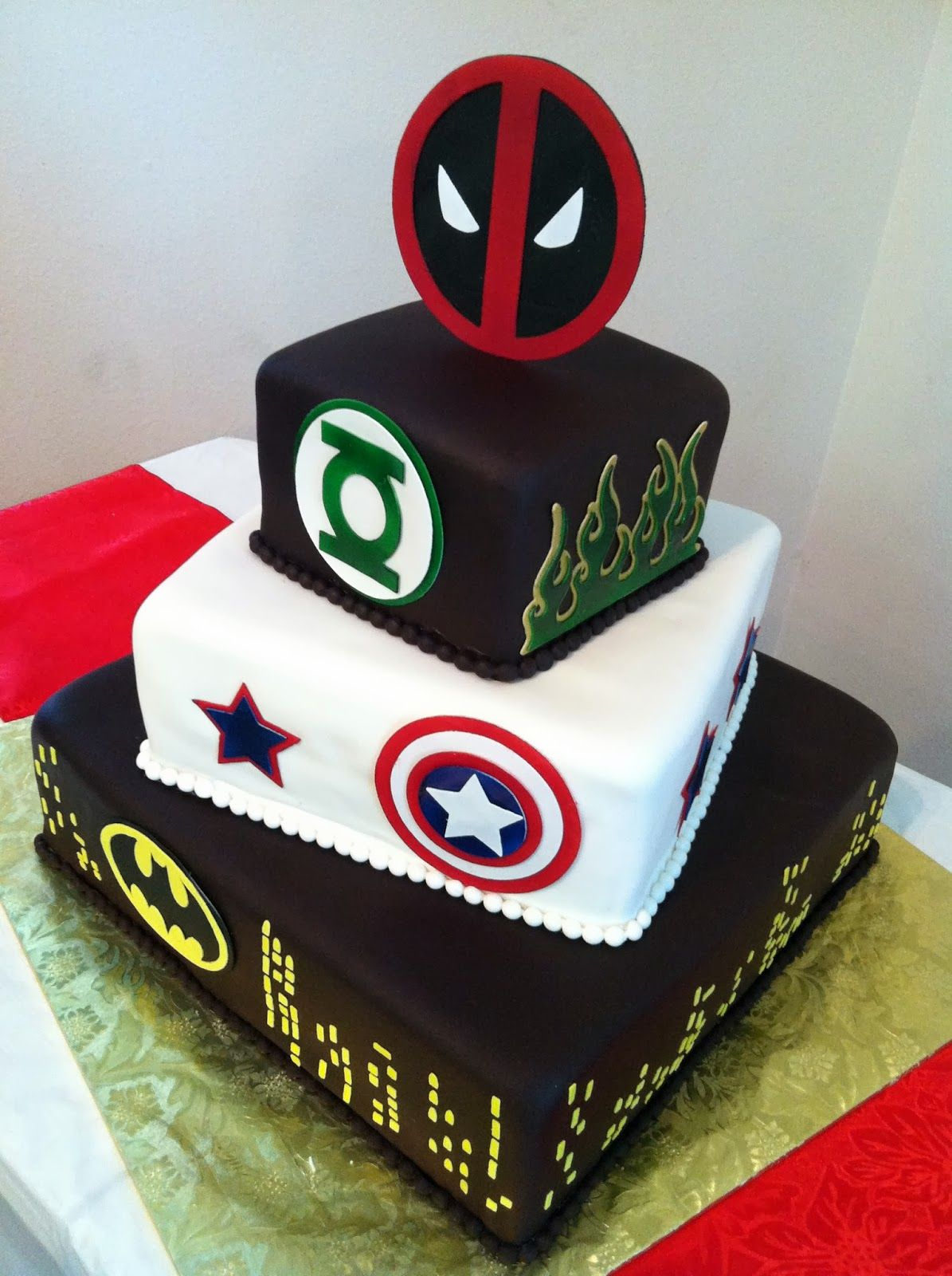 Deadpool Wedding Cake
