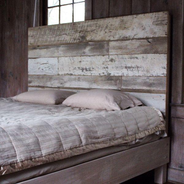 Reclaimed Wood Headboard White Barnwood 300 Liked On Polyvore