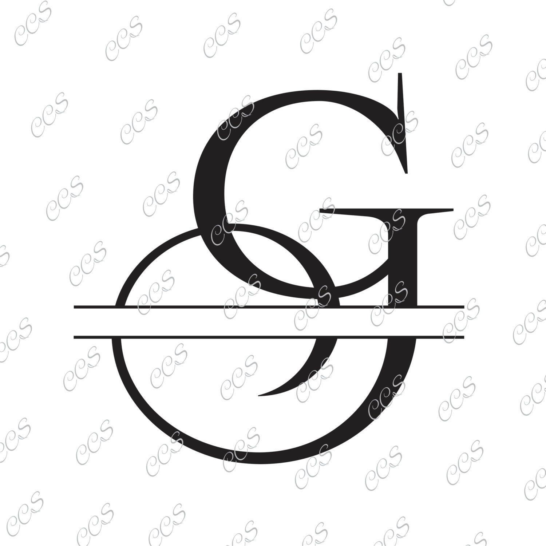 Digital Cut File Split Letters