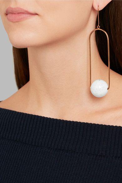Stella Mccartney Gold Tone Enamel Earring Net A Porter Com