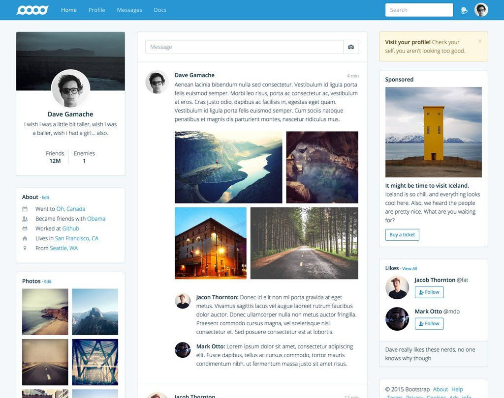 Bootstrap Themes | knowledge | Pinterest