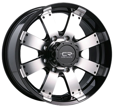 "Core Racing Rogue - Gloss Black with machined face.  Available in 17"" and 18"".  www.coreracingwheels.ca  Starting at $172.99.  #wheel #rim #truck"