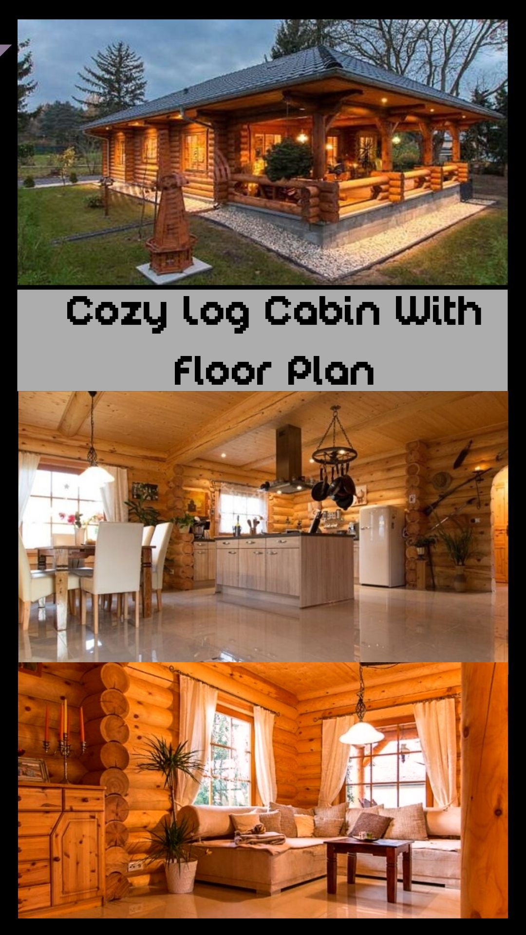 Cozy Log Cabin With Floor Plan Log Cabin Plans Log Cabin Floor Plans Small Log Cabin Plans