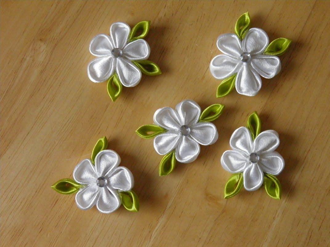 Kanzashi Kanzashi Tutorial Fabric Flowers Diy Kanzashi