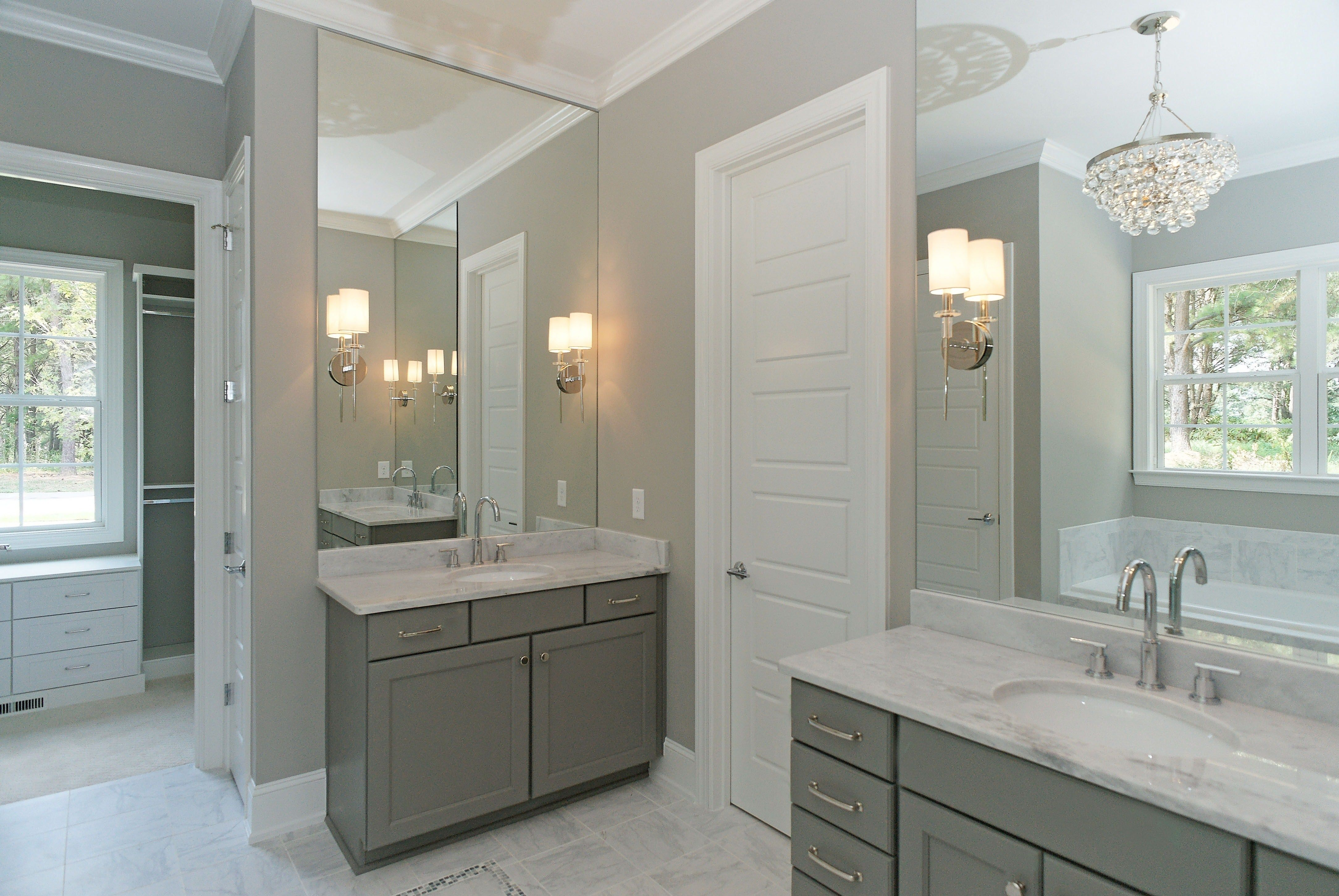 The Oakmont Hill built by Homes By Dickerson master bathroom double