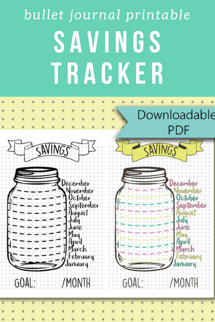 picture relating to Savings Jar Printable identified as Bullet Magazine Stickers - Personal savings Jar - Discounts Tracker Web page