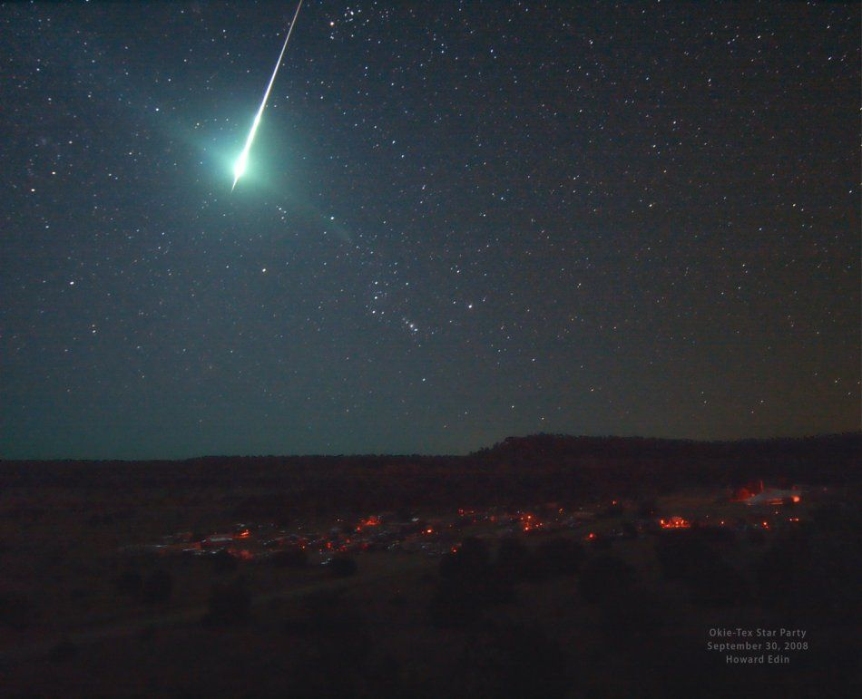 Fireball meteor over Oklahoma from 2008  | To Infinity and
