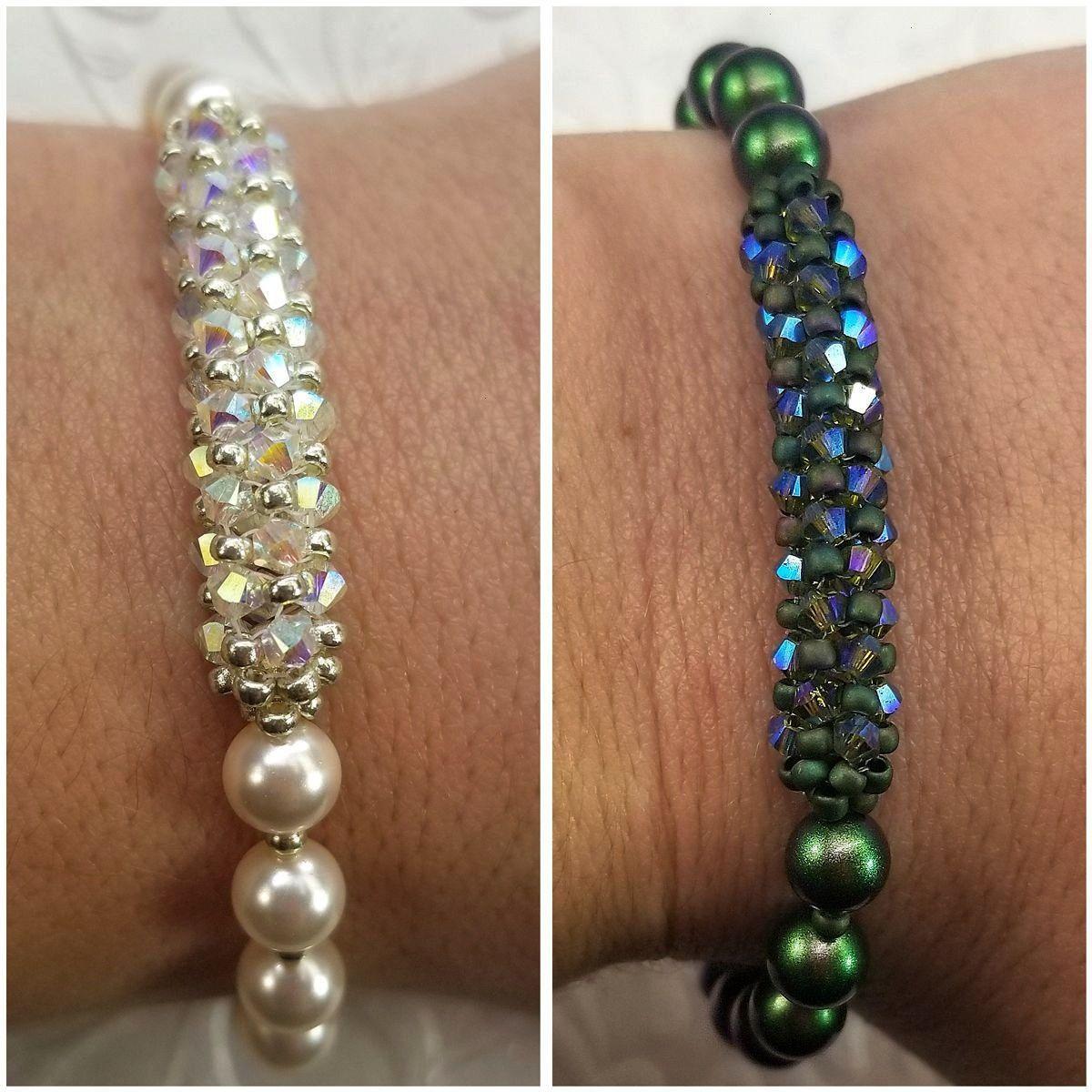 Swarovski Crystal  Pearl Bracelet VIDEO TUTORIAL  Pavé Swarovski Crystal  Pearl Bracelet by Leah Wyckoff  Eureka Crystal Beads Pavé Swarovski Crystal  Pearl...