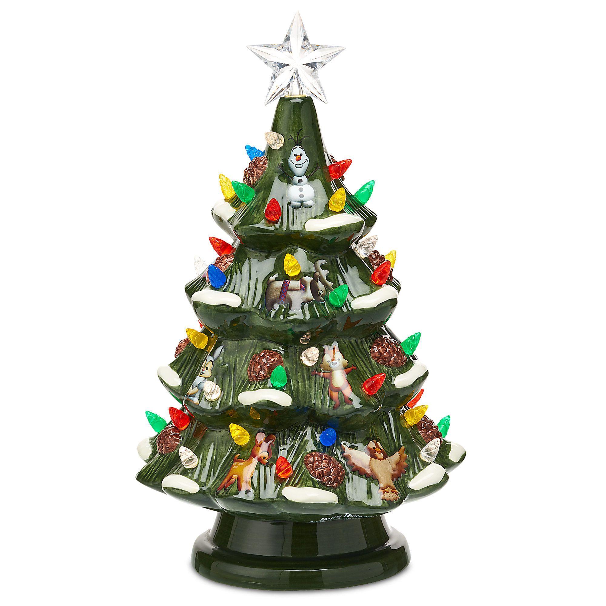 Disney Retro Ceramic Light Up Tree Animated Christmas Decorations Decorating With Christmas Lights Disney Christmas Decorations Outdoor