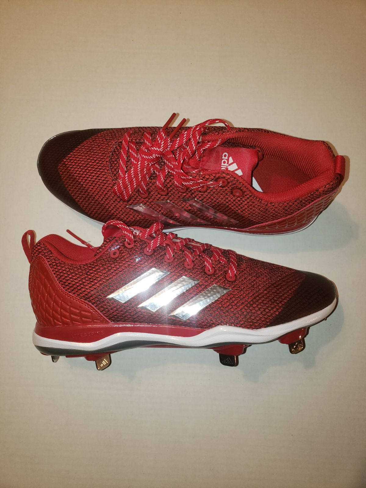 Can You Wear Baseball Cleats For Football Adidas Baseball Cleats New Never Worn Without The Box Size 10 Adidas Baseball Cleats Baseball Cleats