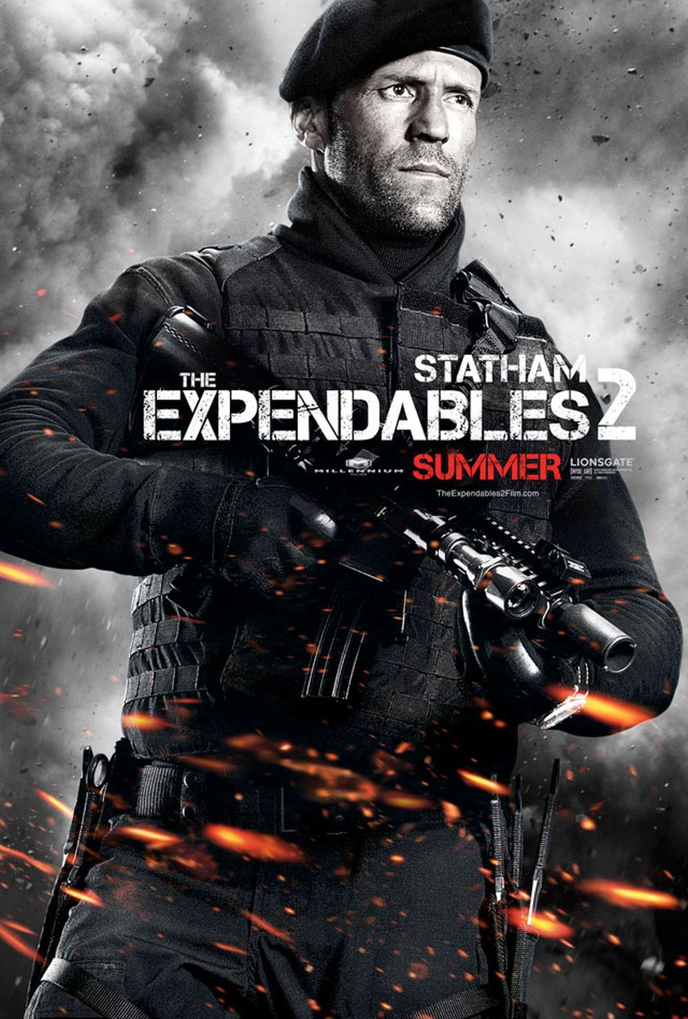 Cast: Jason Statham as Lee Christmas   Movie: Expendables II, The ...