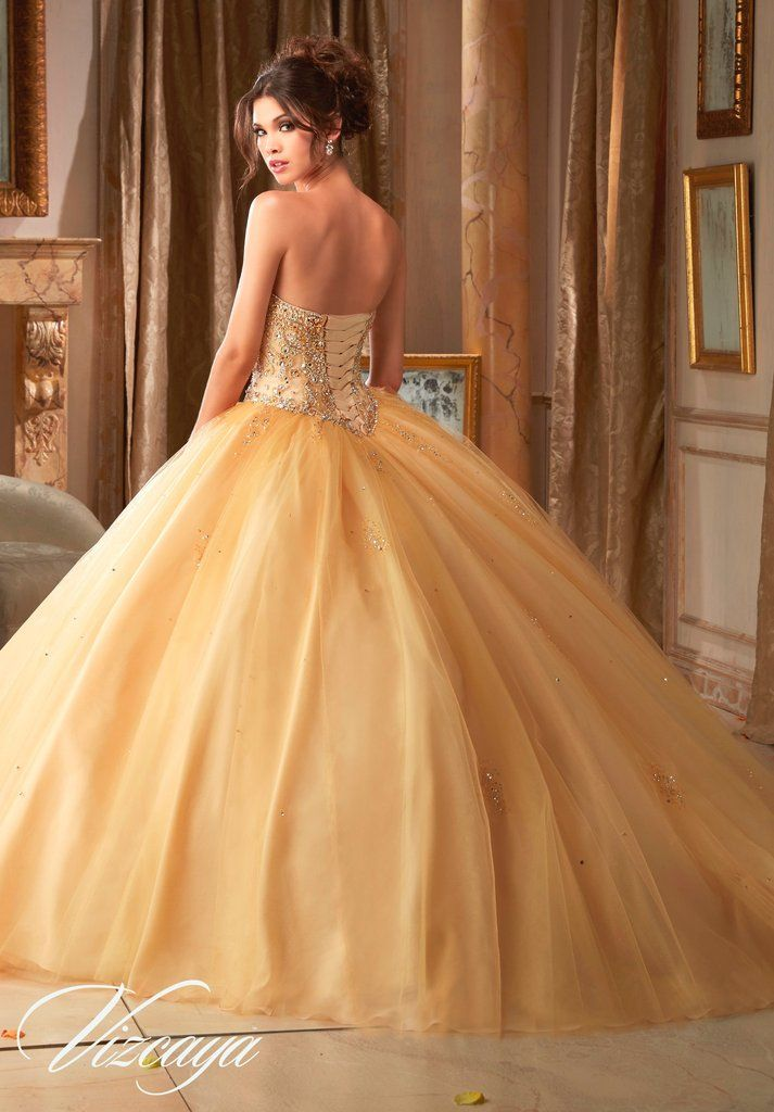 Beaded Strapless Quinceanera Dress By Mori Lee Vizcaya 89109