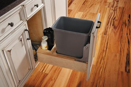 Fieldstone Cabinetry Kitchen Waste Basket Built In Space For