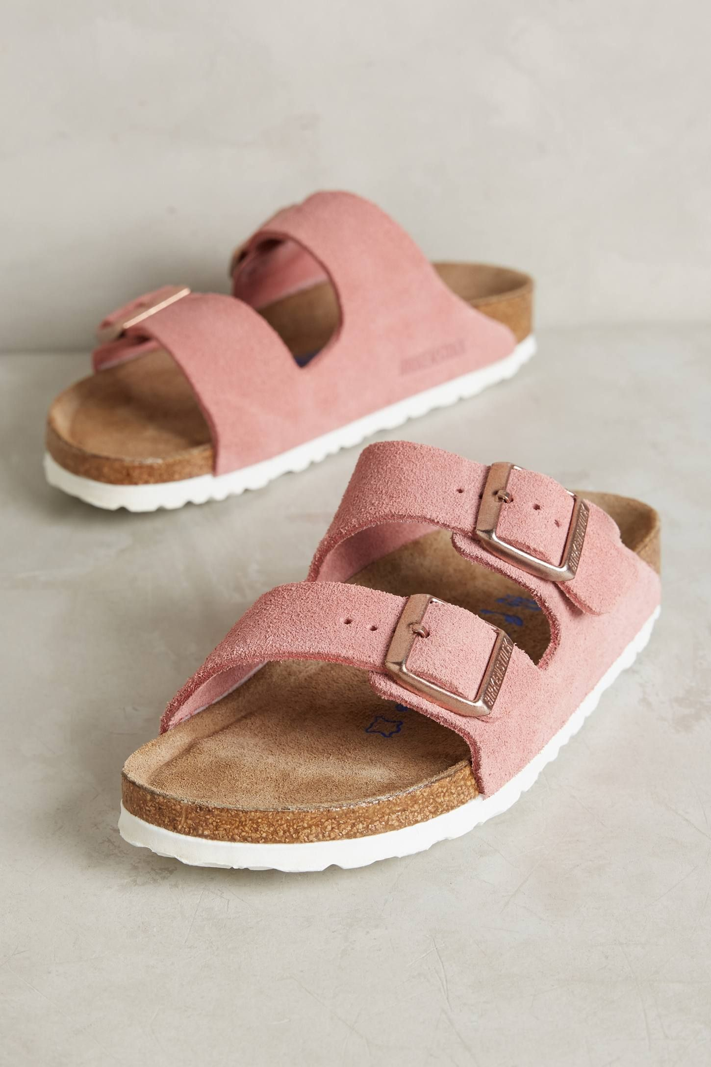 89e8a0c3e97695 Shop the Birkenstock Suede Arizona Sandals and more Anthropologie at  Anthropologie today. Read customer reviews