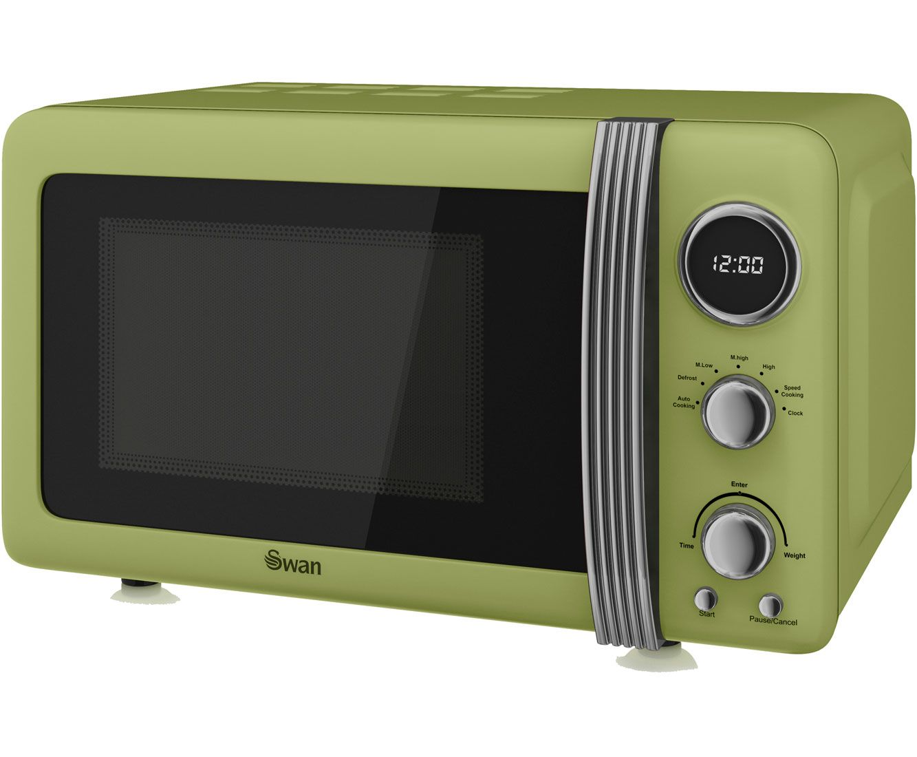 Swan Retro Sm22030gn Freestanding Microwave Green